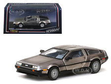 DE LOREAN DMC 12 COUPE STAINLESS STEEL 1/43 DIECAST MODEL CAR BY VITESSE 24000