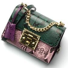 2018 Genuine Leather Women Shoulder Bags Small snake skin handbag satchel bag