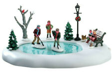 Lemax Christmas Village Clearing The Ice Animated Table Accent #74211 Moving