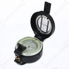 British Lensatic Metal Compass - Hiking Military Camping Navigation Orienteering