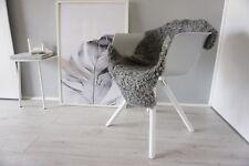 Genuine Swedish Gotland Sheepskin Rug - Curly Silver Grey Ash Wool - SG 187