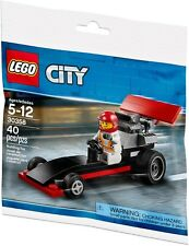 Lego City-Dragster Voiture + Chauffeur Figurine-Polybag USA TOWN Racing Set 30358