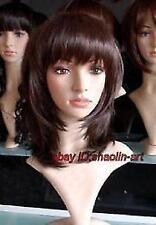 Wigs,brun fonce Moyen raide santé cosplay Costume cheveux perruques