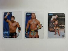 W SMACK DOWN LAMINCARDS  X 3 - FOUND IN LOFT   USED CONDITION - LOT 5