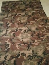Woodland Camo Camouflage Cloth. 56 inches by 9 ft. Ghillie suit material.