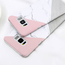For Samsung Galaxy S6 S7 S8 Plus Granite Marble Texture Hard PC Phone Case Cover