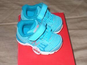 Girl's New Balance 680 V5 Runing Shoes Aqua Blue Pink   BABY 2XW