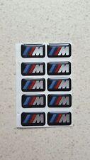 10 x BMW M Power Alu Felgen Emblem Aufkleber Logo Sticker Tacho Lenkrad 3D