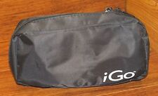"""iGo Black 8"""" Inches Long Zip Up Travel Case Baggie For Any Accessories On the Go"""