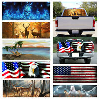 Flaming Skull Rear Window Windshield Graphic Car Decal Sticker for Truck Pickup