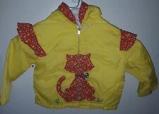 Tiny tots original Vtg girls cat jacket yellow and red nylon 11W