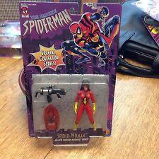 SPIDER MAN SPIDER WOMAN BLACK WIDOW ASSAULT GEAR  TOY BIZ 1996