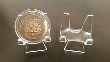 """~10 Premium 3"""" Display Stand Easel Challenge Coins Medals Medallions Tokens"""