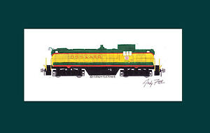 """Duluth, South Shore & Atlantic RS1 11""""x17"""" Matted Print Andy Fletcher signed"""