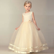 Flower Girl Dress Princess Pageant Wedding Birthday Party Bridesmaid Kid Dresses