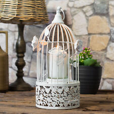 Vintage Bird Cage Lantern Candle Holder Tealight Pillar Wedding Table Decoration