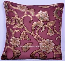 "Indian Home Decor Throw Pillow Embossed Cushion Cover Velvet Case 16"" Throw Art"