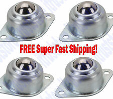 5/8 in Steel Mobile Base Rolling Work Table Roller Ball Bearing Caster Wheel 4Pc