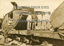 Original WW1 photo British Tank HMLS Tiger  Palestine Battle of Gaza 1917
