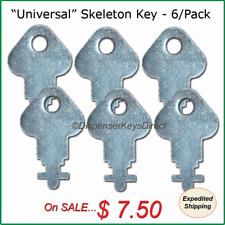 """""""Universal"""" Skeleton Key for Paper Towel, Toilet Tissue Dispensers - (6/pk.)"""
