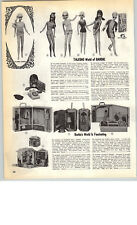 1969 PAPER AD Talking World Of Barbie Doll Twist 'N Turn Casey Stacey Francie