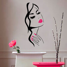 Wall Decal Beauty Salon Manicure Nail Salon Hand Girl Face Vinyl Sticker TDCA