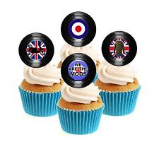Novelty Mods Vinyl Collection 12 Edible Stand Up wafer paper cake toppers