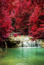 Superba giardino giapponese PAESAGGIO Canvas #317 qualità immagine di cascata Wall Art