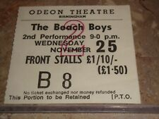 New listing The Beach Boys 1970 Concert Ticket Stub Birmingham Odeon Theatre Brian Wilson Uk