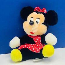 Walt Disney Plush Stuffed Animal disneyland world Minnie Mouse beanbag polka dot