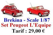 Set de 2 Peugeot 203 Berline - Brekina - Echelle 1/87 (h0)