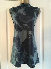 BNWT NEXT Ladies Blue Grey Sleeveless Layered Back Top Blouse