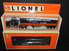LIONEL 52190 FLATCAR w/ ILLINOIS CENTRAL RAILROAD TRACTOR TRAILER UNCAT SPECIAL!