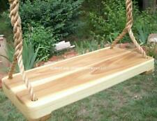 Wood Tree Swing- Poplar Wide with 11 feet of rope per side
