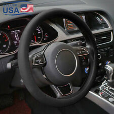 "13""-15"" Soft Silicone Car Steering Wheel Cover Anti-static Non-slip Black USA"