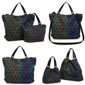 Fashion Japan Geometric Rhomboid Laser Bag Women Handbags Luminous Shoulder Bag