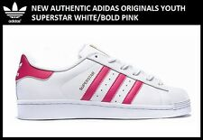 New Authentic Adidas Originals Superstar GS 7Y White/Pink