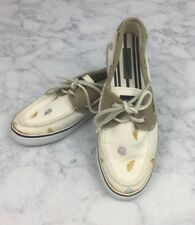Women's Sperry Top Sider Seashell Canvas Boat Shoes Lace Up Loafers Flats 7.5