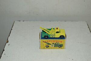 MATCHBOX SERIES LESNEY N°13 CAMION DODGE WRECK TRUCK BP EN BOITE VINTAGE 1960