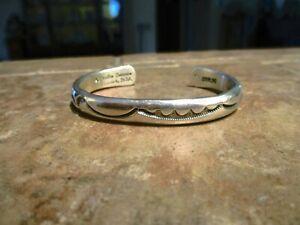 DISTINCTIVE Vintage Navajo ORVILLE TSINNIE (d.) Sterling Silver Design Bracelet