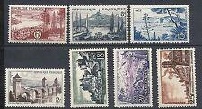 YT n°1036 à 1042  Sie touristique de 1955 neuf** cote 8,50e