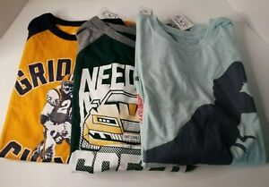2 Hooded T-shirt and 1 regular T-shirt for boys, Size 10-12, long sleeve. New