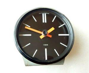 Vintage Large VDO Car Truck Desk Clock Jaeger Quartz Movement Rare Piece