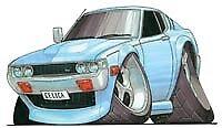 Toyota Celica Cartoon T-shirt 1600 2000 a20 35 23 28 29 st lt gt in sizes S-3XL