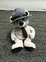State Police Gray Beanie Plush Highway Patrol Bear Doll - Limited Edition 1 of 1