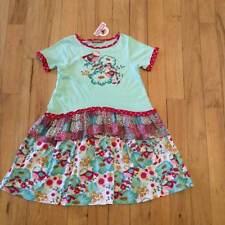 Jelly The Pug Girls Size 14 Bird Print Ruffled Dress Girls  NWT