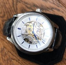 Mens Genuine Rotary London Automatic Skeleton Watch Watch Leather Black GS00209