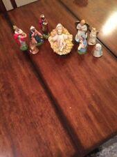 Vintage Christmas Nativity Figurines - Set of 8