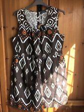 Kaleidoscope Ethnic Print Linen Dress UK 18 BNWT