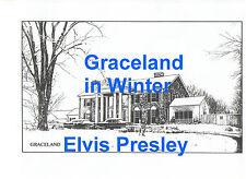 ELVIS PRESLEY 1957 CHRISTMAS CARD ARTWORK GRACELAND WINTER SCENE PHOTO CANDID